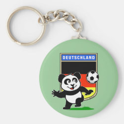 Basic Button Keychain with German Football Pand design