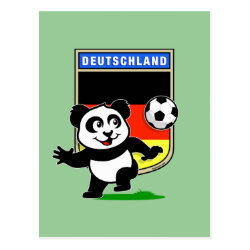 Postcard with German Football Pand design