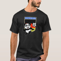 Men's Basic Dark T-Shirt with German Football Pand design