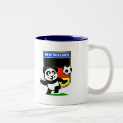 Two-Tone Mug with German Football Pand design