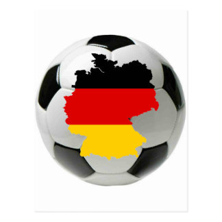 Germany football postcard