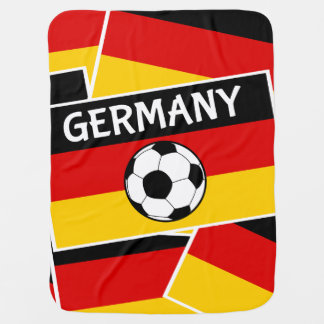 Germany Football Soccer Flag Receiving Blanket