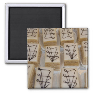 Germany, Franconia, Wertheim. Local bakery 2 Inch Square Magnet