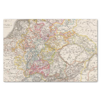"""Germany from 1495 to 1618 10"""" x 15"""" tissue paper"""
