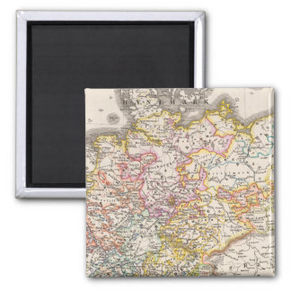 Germany from 1495 to 1618 2 inch square magnet
