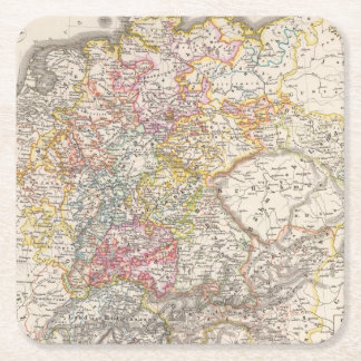 Germany from 1495 to 1618 square paper coaster