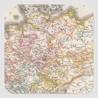 Germany from 1495 to 1618 square sticker
