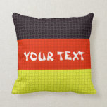Germany German flag: ADD TEXT Pillow