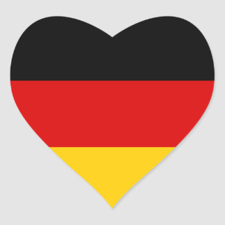 Germany – German National Flag Heart Sticker