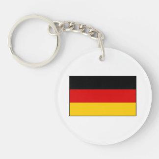 Germany – German National Flag Round Acrylic Key Chains