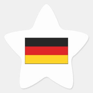 Germany – German National Flag Star Sticker