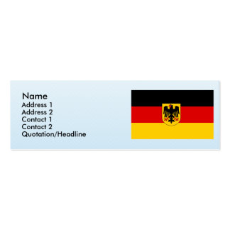 Germany , Germany Double-Sided Mini Business Cards (Pack Of 20)