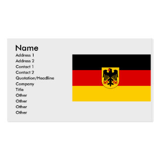 Germany , Germany Double-Sided Standard Business Cards (Pack Of 100)