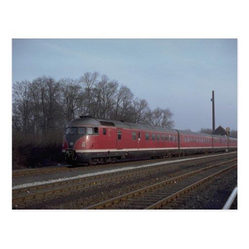 Germany, GFR (BB) diesel railcar set, 1977 Post Card