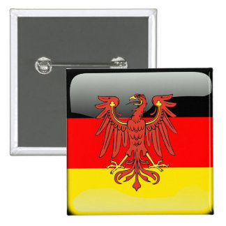 Germany glossy flag pinback button