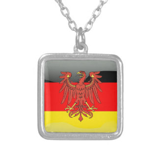 Germany glossy flag silver plated necklace