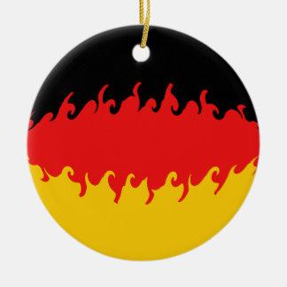 Germany Gnarly Flag Ceramic Ornament