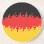 Germany Gnarly Flag Sandstone Coaster