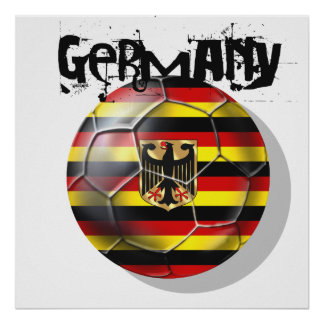 Germany grunge striped soccer ball design gifts poster