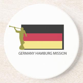 GERMANY HAMBURG MISSION LDS CTR BEVERAGE COASTER
