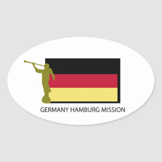 GERMANY HAMBURG MISSION LDS CTR OVAL STICKER