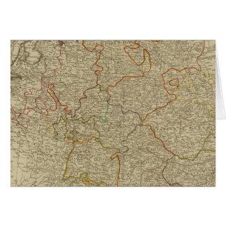 Germany hand oclored atlas map card