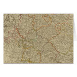 Germany hand oclored atlas map greeting card