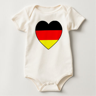 """Germany heart"" Babybody bio football WM Romper"