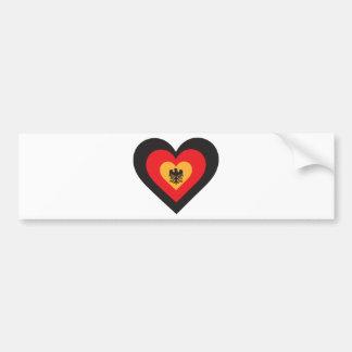 Germany Heart Bumper Sticker