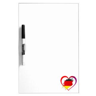 Germany heart dry erase board