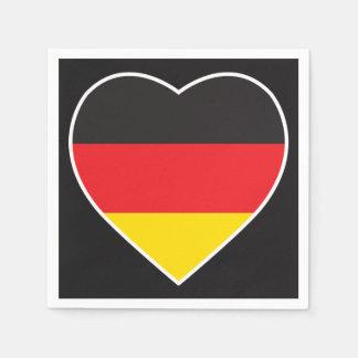 GERMANY HEART SHAPE FLAG NAPKIN