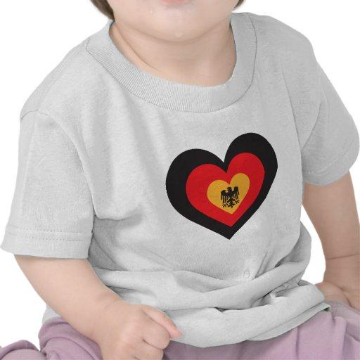 Germany Heart Shirts