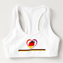 Germany heart sports bra