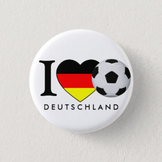 """""""Germany"""" I love football Germany Anstecker Button"""