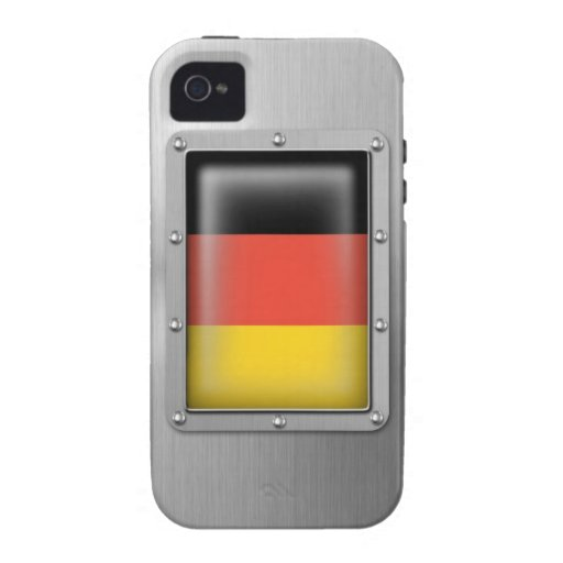 Germany in Stainless Steel iPhone 4 Case