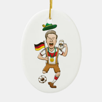 Germany is Four-time Soccer Champion Ceramic Ornament