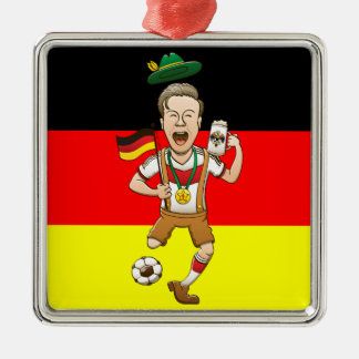 Germany is Four-time Soccer Champion Metal Ornament