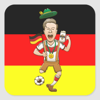 Germany is Four-time Soccer Champion Square Stickers