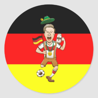 Germany is Four-time Soccer Champion Round Sticker