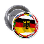 Germany & its Laender Waving Flags 2 Inch Round Button