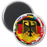 Germany & its Laender Waving Flags Fridge Magnet