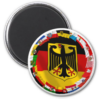 Germany & its Laender Waving Flags Fridge Magnet