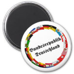 Germany & its Laender Waving Flags Refrigerator Magnet