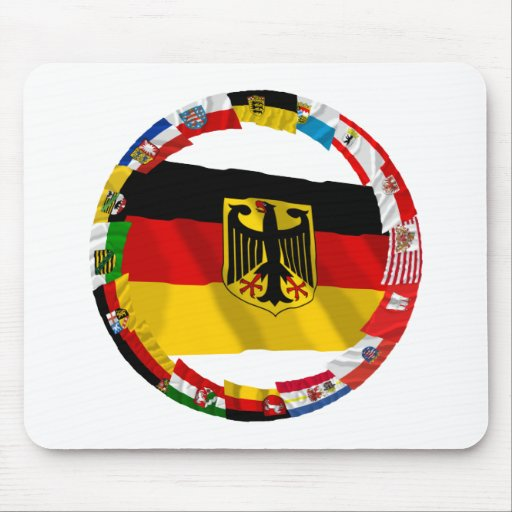 Germany & its Laender Waving Flags Mouse Pads