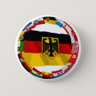 Germany & its Laender Waving Flags Pinback Button