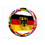 Germany & its Laender Waving Flags Post Cards
