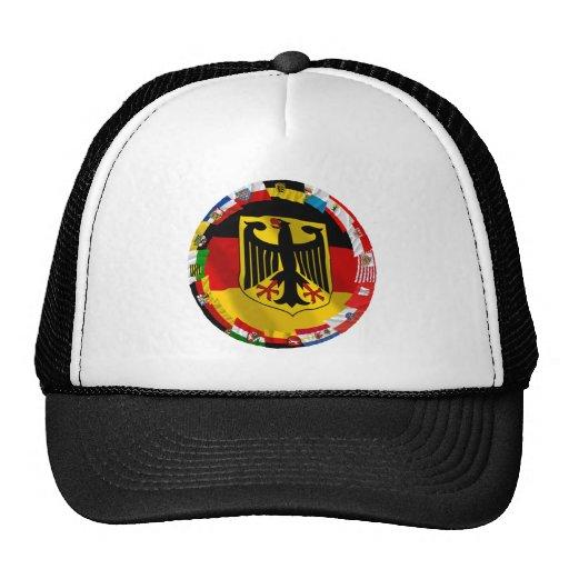 Germany & its Laender Waving Flags Trucker Hat