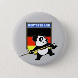 German Javelin Panda Round Button