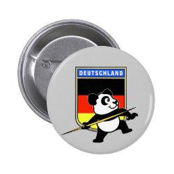 Round Button with German Javelin Panda design