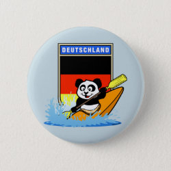 German Kayaking Panda Round Button